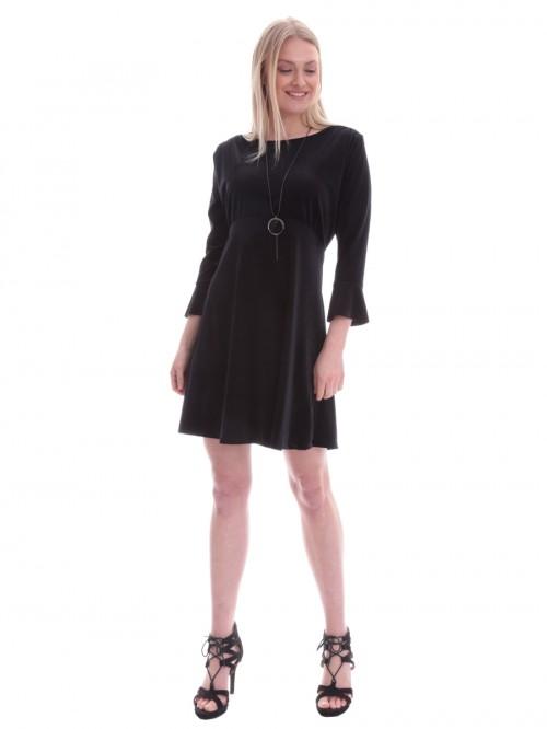 Φόρεμα βελούδο σιφόν κλος