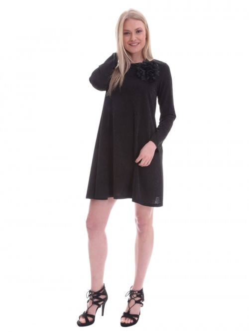 Φόρεμα μαύρο βραδινό καρφίτσα