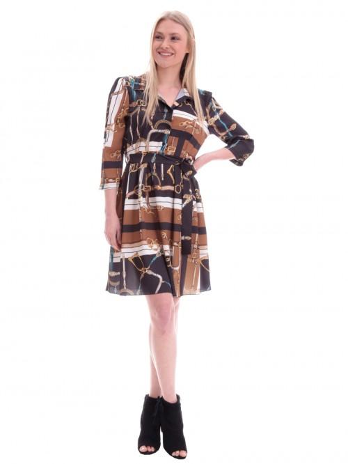 Φόρεμα μίντι σατέν αλυσίδες