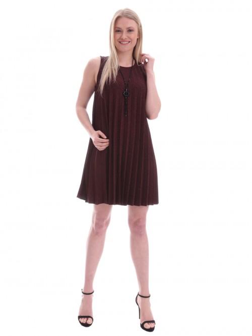 Φόρεμα βραδινό πλισέ - ΜΠΟΡΝΤΟ 51a02233300