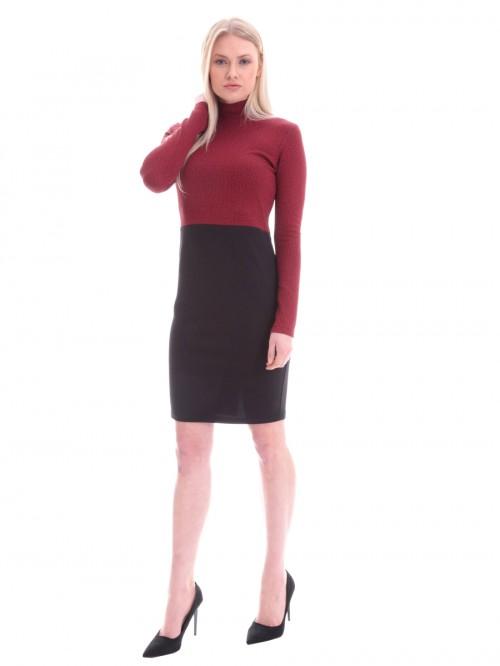Φόρεμα μακρυμάνικο μικρό καρό