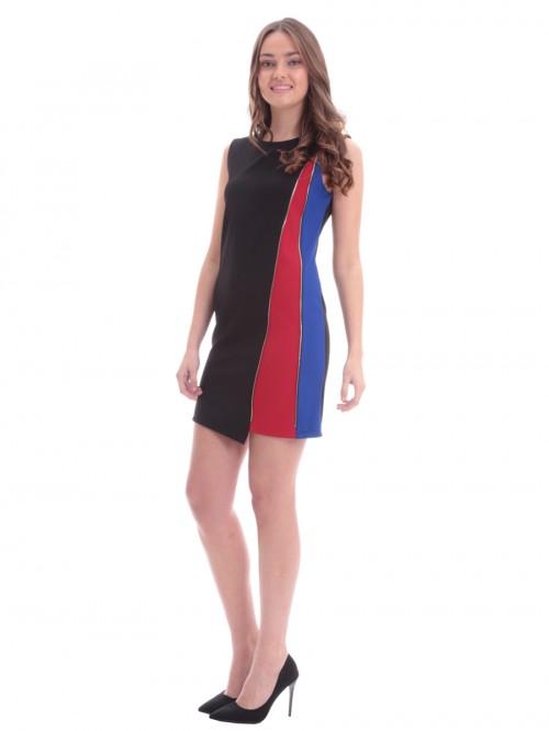 Φόρεμα μαύρο διακοσμητικό φερμουάρ