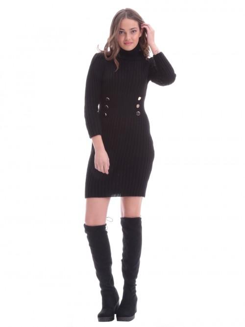 Φόρεμα πλεκτό κουμπιά