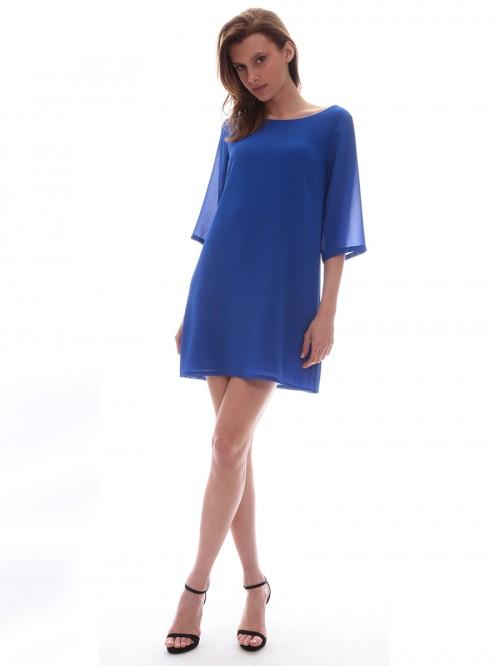 Φόρεμα μίνι μουσελίνα