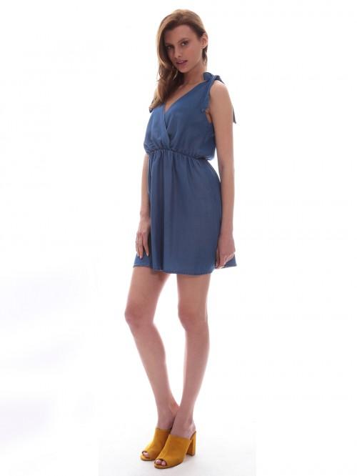 Φόρεμα τζιν κρουαζέ