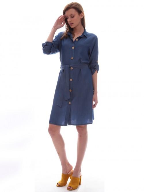 Φόρεμα τζιν γιακάς