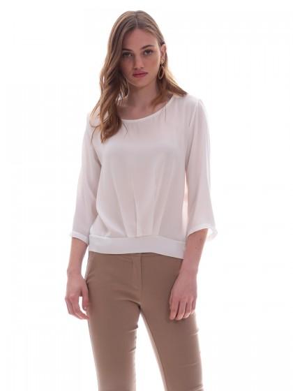 Μπλούζα λευκή δέσιμο πίσω