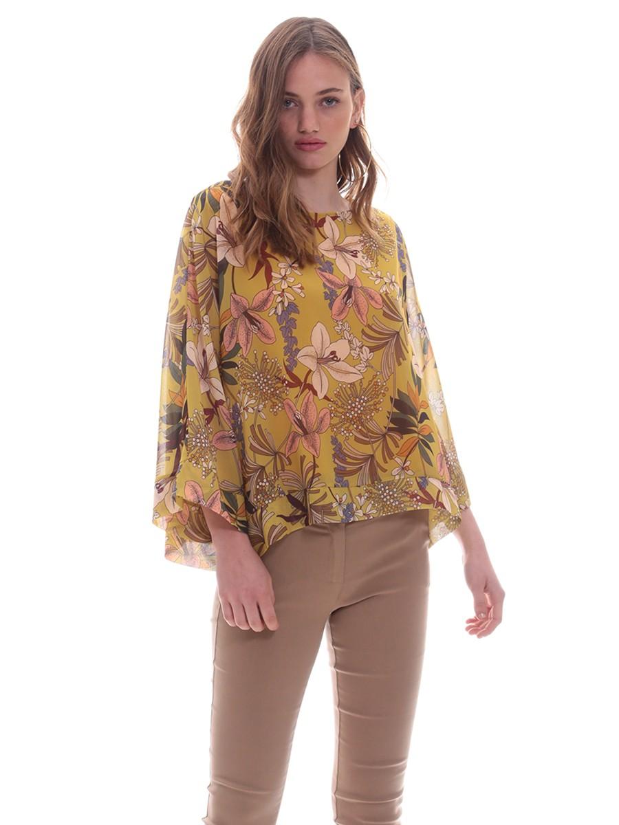 f36b19c715ae Τουνίκ κίτρινη λουλούδια φάσα
