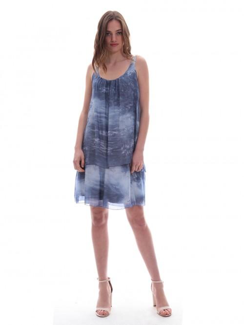 Φόρεμα μουσελίνα πούλιες