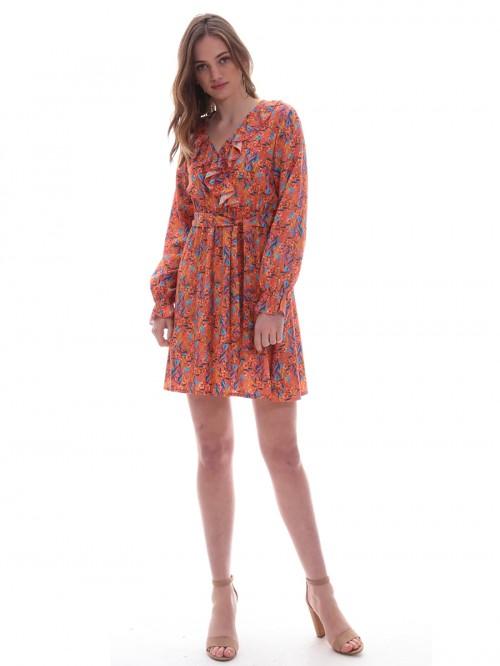 Φόρεμα εμπιμέ βολάν