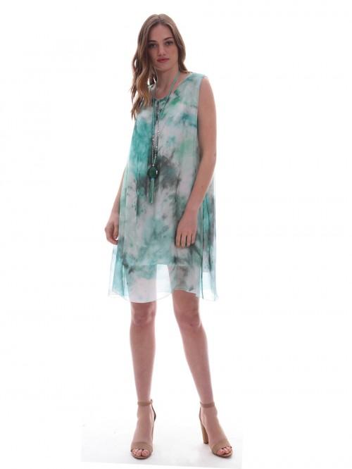Φόρεμα μεταξωτό αμάνικο