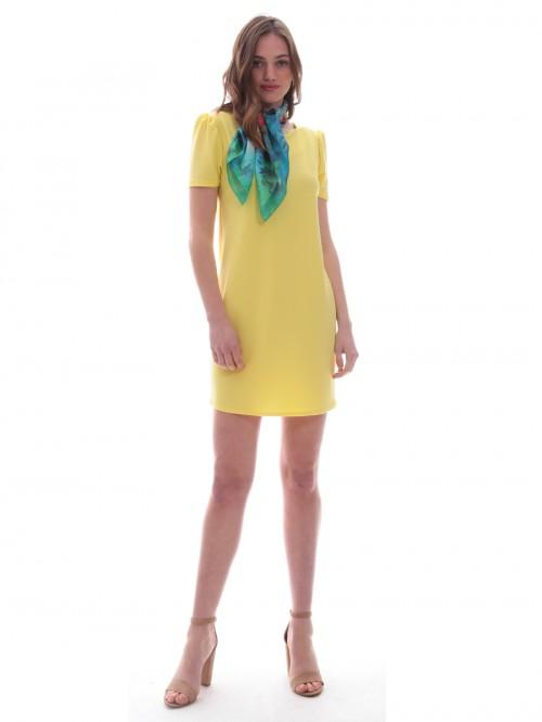 Φόρεμα μίνι σούρα ώμοι