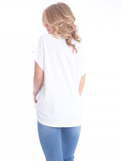 a5ab1ba0051f Μπλούζα λευκή λινή πεταλούδα Μπλούζα λευκή λινή πεταλούδα