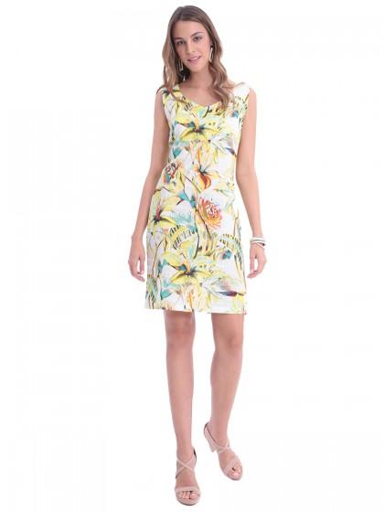 Φόρεμα εμπριμέ βαμβακερό
