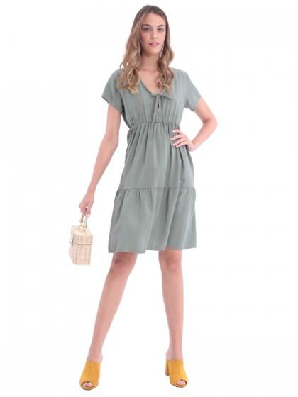 Φόρεμα δέσιμο βολάν
