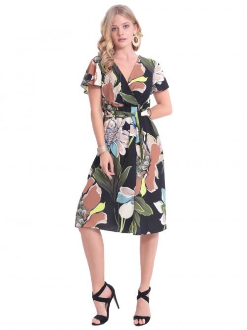 Φόρεμα κρουαζέ μίντι