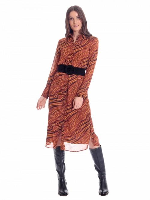 Φόρεμα μίντι κύματα
