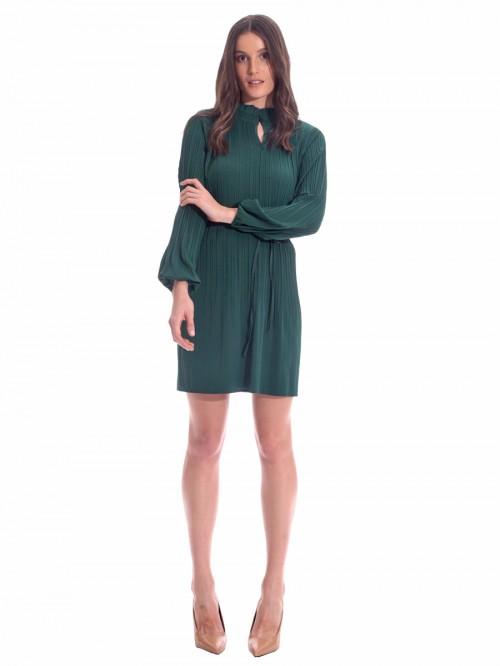 Φόρεμα πράσινο πλισέ